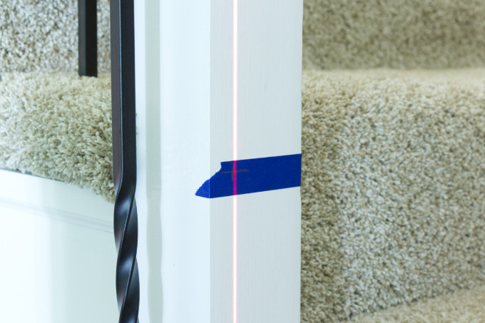 Using laser beam to line up holes