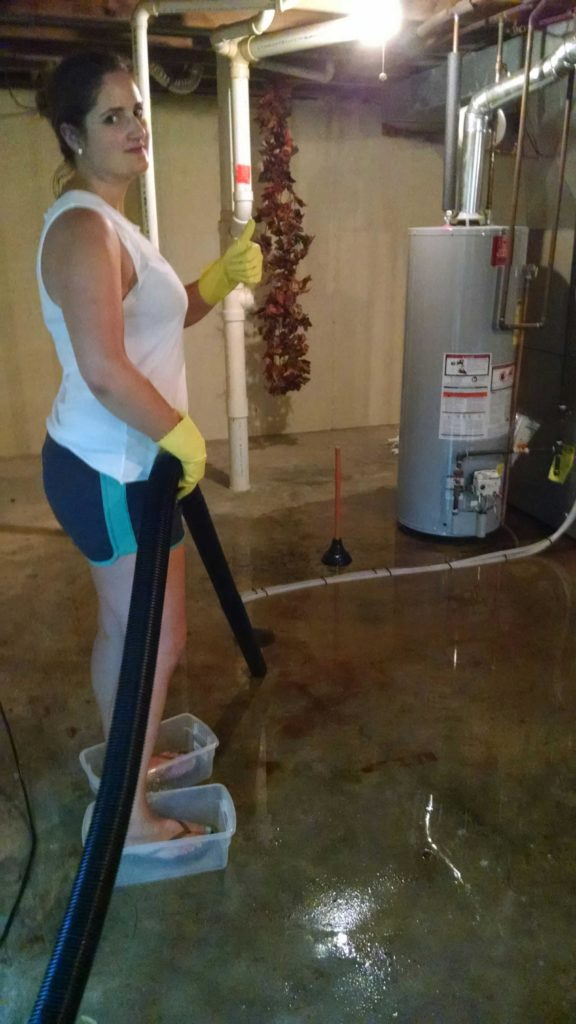 Cleaning up flooded basement