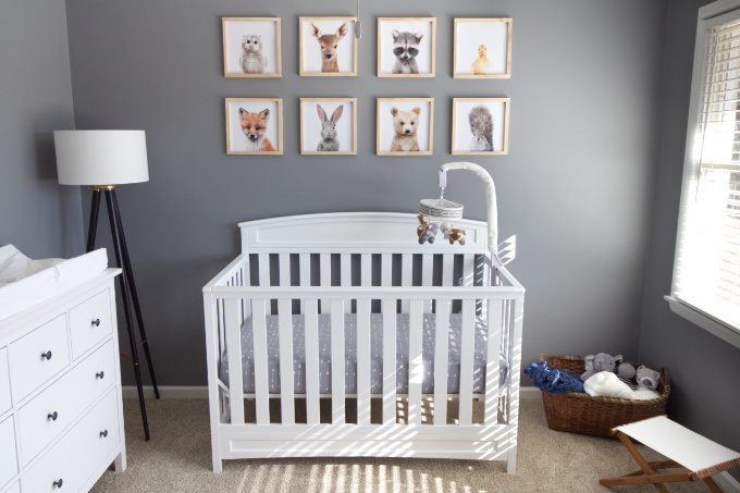 Baby nursery after photo
