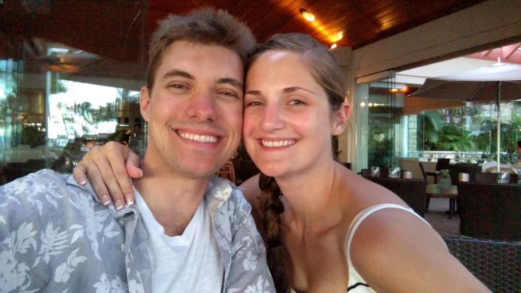 Tyler and Megan on Honeymoon