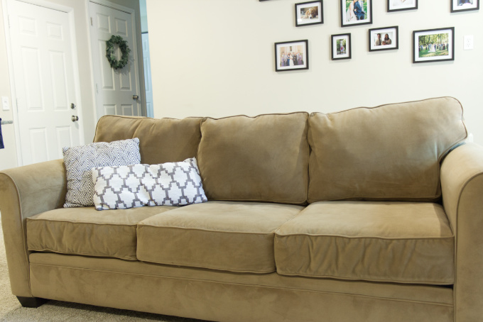 DIY sagging couch cushion fix back pillow slouching fill