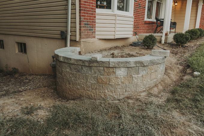 Versa Lok Landscape Retaining Wall Versa Lok Landscape Retaining Wall Progress
