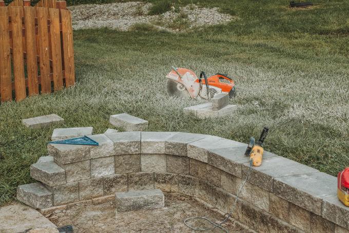 Versa Lok Landscape Retaining Wall Gas Powered Concrete Saw Tool Rental